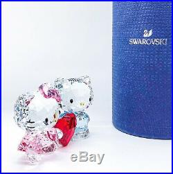 New Swarovski Crystal 5428570 Hello Kitty & Dear Daniel Love Heart Figurine