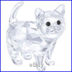 New Swarovski Kitten Brand New In Box #5269815 Crystal Clear Baby Cat Cute F/sh