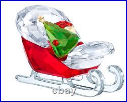 New in Box $179 Swarovski Santa's Sleigh Christmas Tree Gift Box #5403203