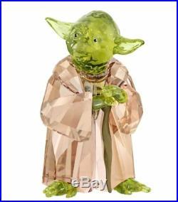 New in Box $239 SWAROVSKI 2018 Disney Star Wars Master Yoda #5393456