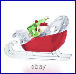 New in Box Swarovski Santa's Sleigh Christmas Tree Gift Bag #5403203