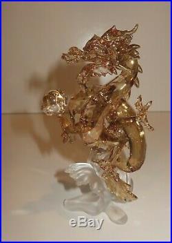 Noble Dragon, Small Chinese Golden Crystal 2016 Swarovski Designer Signed 540524