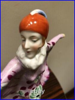 Original Art Deco Katzhutte Hertwig Batgirl Figurine Hand Painted