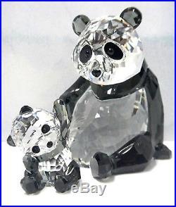 PANDA MOTHER WITH BABY BEAR SET SWAROVSKI CRYSTAL 2015 SWAROVSKI #5063690