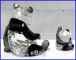 Panda Mother With Baby Bear Set Swarovski Crystal 2015 Swarovski 5063690