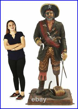 Peg Leg Pirate Life Size Statue Pirate Decor Captain Hook Like Pirate 6FT