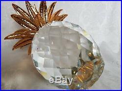Perfect Swarovski Austrian Crystal GIANT Pineapple Figure in Hard Case RARE