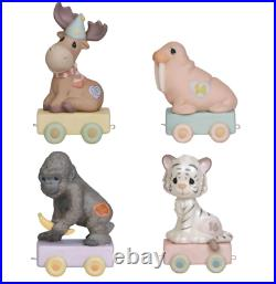 Precious Moments Age 13-16 Bundle of Birthday Train Set of 4 Ages 13, 14, 15 &
