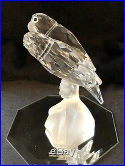 Pristine! 1987 Swarovski Crystal 1st First Annual Scs Togetherness Lovebirds Fig