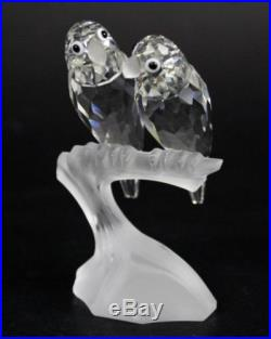 RARE Swarovski Austira SCS Love Birds 1987 Annual Edition Crystal Figurine HMB