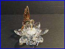 RARE Swarovski Gold In-Flight Hummingbird Butterfly & Bee Set MINT withBoxes Bases