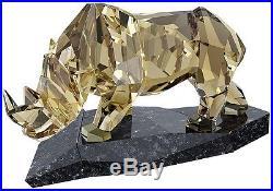 Rhinoceros Soulmate Smokey Brown Crystal Rhino 2015 Swarovski #5136804