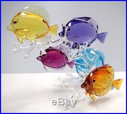 Rainbow Fish Family Sea Life Colorful 2016 Swarovski Crystal #5223195