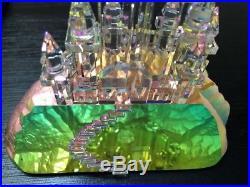 Rare Crystal World LE 750 Signed & Number Artist Nakia Rainbow Castle Figurine