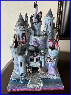 Rare Enesco Jim Shore Disney Showcase Collection Villains Tower Of Fright