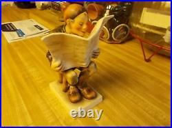 Rare Hummel Little Old Man Reading A Newspaper #181 There Are Only A Few Made