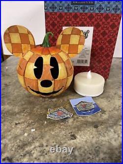 Rare Jim Shore Disney Happy Halloween Mickey Mouse Pumpkin Lighted 4011044 MIB