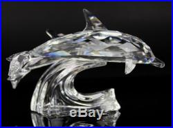 Retired SCS Swarovski Austria Dolphin Lead Me 1990 Annual Crystal Figurine MBH