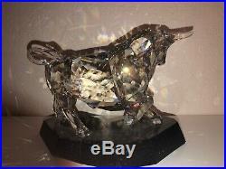 Retired Soulmates Bull By Swarovski Crystal Retired #1035340 Mib