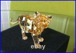 Retired Swarovski Crystal TIGER CUB STANDING Figurine #1016677 MIB WithCOA