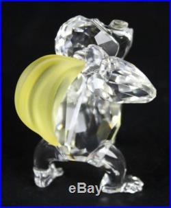 Retired Swarovski Monkey w Banana Curious George Austrian Crystal Sculpture NR