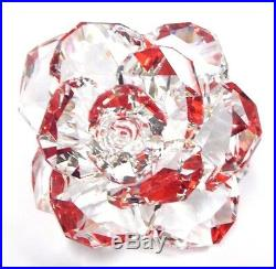 Rose Flower Clear Crystal Petals Reflects Red 2017 Swarovski Crystal 5249251