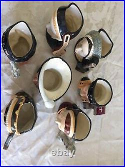 Royal doulton King Henry VIII And 6 Wives Toby mug Set