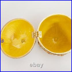 Russian Faberge Egg Replica Jewelry Box Made Russia Easter Coronation Carriage