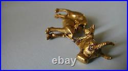 SCARCE ANCIENT (6th BC) RUSSIAN SCYTHIAN PURE 24K GOLD COW ANTIQUE FIGURINE