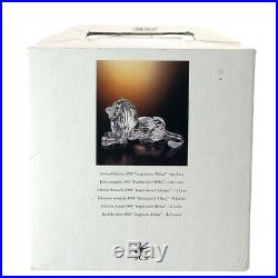 SCS 1995 Swarovski Crystal The Lion Figurine Inspiration Africa Annual Edition