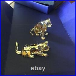 SIGNED Swarovski SCS Annual Edition 2019 Cubs Amur Leopard New in Box 5506813
