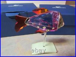 SWAROVSKI 626205 CAMARET FUCHSIA RAIN CRYSTAL TROPICAL FISH WithBOX