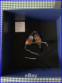 SWAROVSKI CRYSTAL #1141675 GOULDIAN FINCHES PERIDOT BNIB Love birds rare retired
