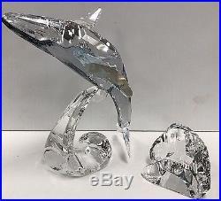 Swarovski Crystal 2012 Scs Humpback Paikea Whale Sculpture Figurine 1053154 Mib