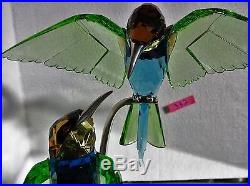 SWAROVSKI CRYSTAL BEE EATERS Peridot BIRD FIGURINE, Item # 957 128 MIB