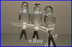 SWAROVSKI CRYSTAL Birds Swallows Figurine 9100 NR 077 Feathered Beauties 892039