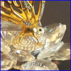 Swarovski Crystal Gold Butterfly Figurine, In Flight Series, Retired 1986