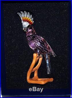 Swarovski Crystal Large Paradise Cockatoo Bird Figurine