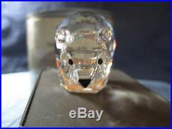 SWAROVSKI CRYSTAL LARGE POLAR BEAR FIGURINE #7649 085 000 MINT IN BOX NO CERT