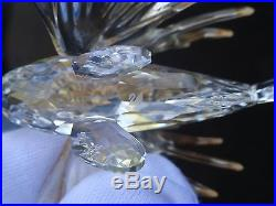 SWAROVSKI CRYSTAL LION FISH FIGURINE 7644 000 008 ISSUED IN 2002