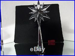SWAROVSKI CRYSTAL L E Rockefeller CHRISTMAS TREE TOPPER, # 9400 060 / 843215 MIB