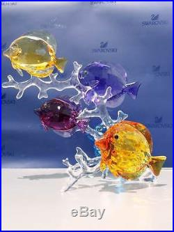 Swarovski Crystal Mother Nature Rainbow Fish Family New For 2106 New In Box Nr