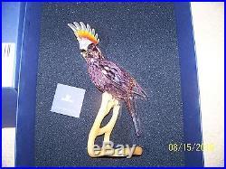 Swarovski Crystal Pariadise Cockatoo Bird Red Figurine New In Box 718565 Retired