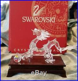 SWAROVSKI CRYSTAL ZODIAC DRAGON FIGURINE RETIRED WithBOX MIB 7550NR000005