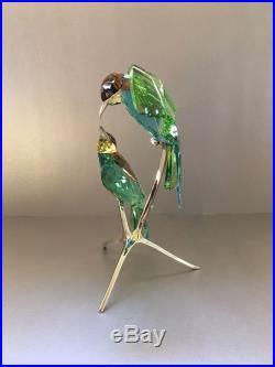 SWAROVSKI Crystal BEE-EATERS PERIDOT 957128 MINT with Original Box & COA Birds