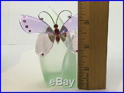 SWAROVSKI Crystal Butterfly Paradise Acara Violet Pink 719184 Stunning! BuP1