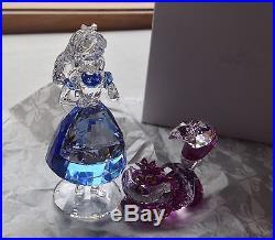 SWAROVSKI Crystal Figurine 2016 Disney's ALICE IN WONDERLAND & CHESHIRE CAT