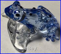 SWAROVSKI Crystal Figurine BLUE DART FROG SCS 2009 RARE 955439 MIB & COA Retired