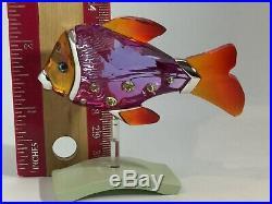 SWAROVSKI Crystal Fish Paradise Camaret Fuschia Purple Stunning! FiP1
