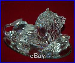 SWAROVSKI Crystal LION Transpiration Africa 1995 Original Box + COA